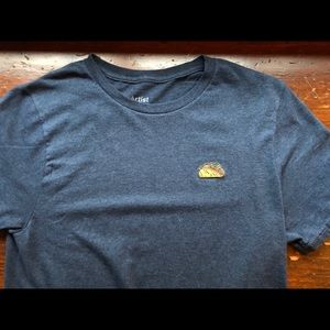 Men's small t-shirt with taco emblem
